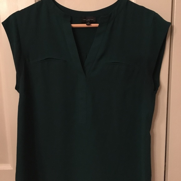 The Limited Tops - The Limited Dark Green Shirt